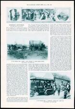 1916-ANTIQUE PRINT militaire HEAVY HOWITZER front occidental Caterpillar (091)