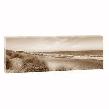 Strand Dünen se  Bild Strand Meer Nordsee Leinwand  Poster XXL 150 cm*50 cm 613