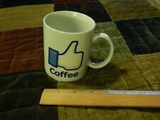 """Facebook """"Thumbs-Up"""" Icon _Double Sided_ Ceramic [COFFEE MUG_CUP] Social Media"""