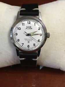 Hmt manual wind Pilot watch New Leather strap exellent running condition