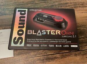 Creative Sound Blaster Omni Surround 5.1 USB SBX Sound Card
