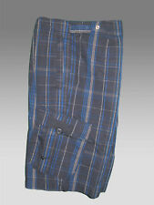 New NIKE Athletic Dept AD Cargo Comabat Bermuda SHORTS Blue Check M 32""
