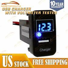 12V USB Port Digital Car Charger Socket Voltmeter 2.1A Power Adapter For Toyota