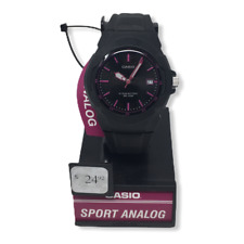 Casio Women's Sport Analog Black/Pink Watch | Black Resin Strap | LX610-1A2V