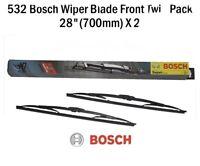 Bosch 532 Twin Front Wiper Blades Ford Galaxy Seat Alhambra VW Sharan