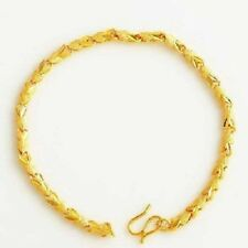 Pulsera mujer 17 cm largo con oro amarillo 18k gf con caja para regalo