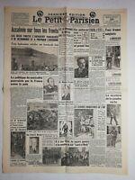 N1075 La Une Du Journal Le Petit Parisien 26 Août 1936