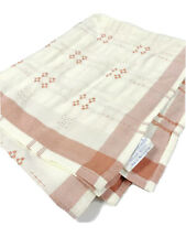 Tischwasche Germany Vintage Table Linen Tablecloth Throw Fabric Cream Red Rare