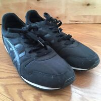 asics onitsuka tiger all black lace up running shoes D5T1N  F870515 Men's 9.5