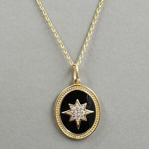 """CZ Jewelry Gold Plated 16+2"""" Necklace 925 Sterling Silver Handmade Jewelry"""