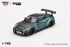 MINI GT x Tarmac Works 1:64 LB WORKS Nissan GT-R (R35) Magic Green