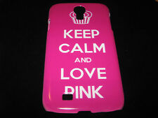 Love Pink Cover Case for Samsung Galaxy S4 IV Keep Calm And Love Pink Case