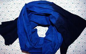 Long Handmade Tuareg Scarf Turban Ethnic Blue Sahara, Unisex Adult
