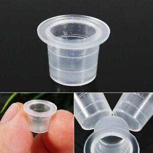 100pcs Fashion Plastic 3 Sizes Tattoo Ink Cups Caps  12mm 10 Pigment  2022