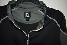 Footjoy Mens Golf 1/4 Quarter Zip Pullover Black Gray Large L