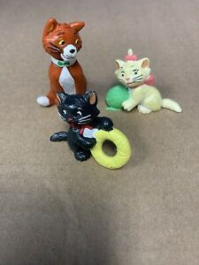 Disney Vintage Aristocats Lot Of 3 Figurines Bully Made in Germany 1982