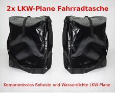 2x LKW-Plane Fahrradtasche Fahrrad Gepäckträgertasche Tasche Wasserdicht Schwarz