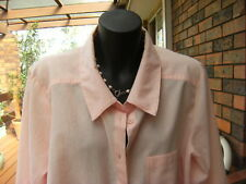 AUTOGRAPH long/adjustable sleeve pink peach Shirt/Blouse/Top sz.14 #SundayMarket