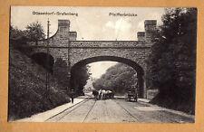 Düsseldorf Grafenberg,Pfeifferbrücke schöne Straßen Ansicht mit Fuhrwerk 1916