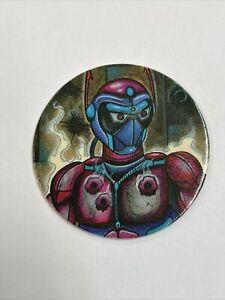 Robot Fighter Milk Cap - Vintage Jots USA Pogs - Blue Back - 1994 Pog