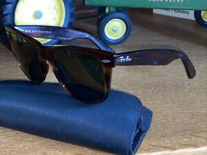 Vintage Bausch Lomb Ray-Ban Wayfarer 2 B&L Tortoise Sunglasses BL 54mm BL Atomic