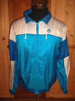 vintage 80`s CSS Nylon Jacke sports jacket shiny oldschool Trainingsjacke L