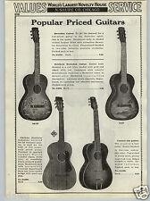 1937 PAPER AD Mandolin Guitar Valencia Hawaiian Halekaia Decorated Decal