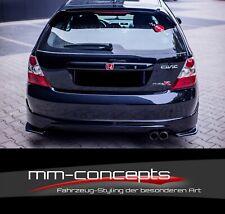 Cup Spoiler Lèvre Noir Honda Civic ep3 mk7 R//S Front Becquet Spoiler épée