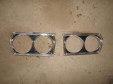 Pair of 1964 64 Plymouth Belvedere Sport Fury Headlight Bezels Left Right Mopar