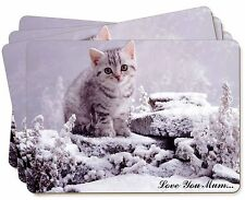 Silver Kitten 'Love You Mum' Picture Placemats in Gift Box, AC-70lymP