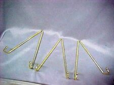 """LOT 3 Heavy Duty Gold Brass Wall Display Hangers for 6"""" to 11"""" Plate"""