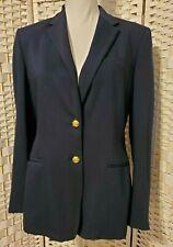 Lauren Ralph Blazer Coat Jacket, Womens Size- 6, Vtg, Navy, Lined, Button Up
