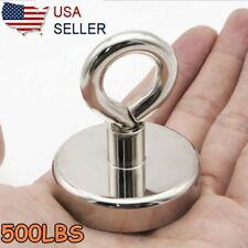 500lbs Neodymium Fishing Magnets Pulling Force Super Strong Round Rare Earth Us