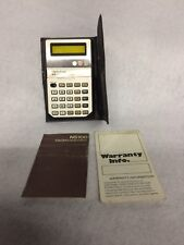 NATIONAL SEMICONDUCTOR NS100 POCKET LED CALCULATOR DC 5.4V W/ Case and Paperwork