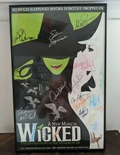 WICKED FRAMED AND SIGNED BROADWAY MUSCIAL POSTER 14 X 22