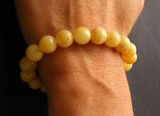 Armband, Bernstein, GELB, poliert,  Kugel, Balls, Beads Amber Bracelet NEU