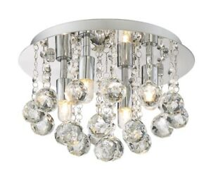 Style Selections, 11.75-in Polished Chrome Cascading Drops Mini Ceiling Light