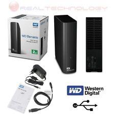 """HD ESTERNO 3,5"""" 2TB WESTERN DIGITAL ELEMENTS USB 3.0 2000GB HD WDBWLG0020HBK-EES"""