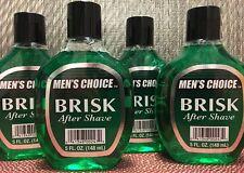 Men's Choice BRISK After Shave   Lot of 4 Bottles