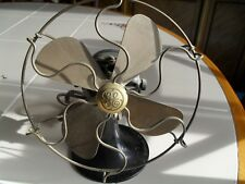 "Antique GE General electric 6"" brass blade fan estate find NICE ONE LOOK"