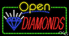 "New ""Open Diamonds"" 32x17 Solid/Animated Led Sign W/Custom Options 25495"