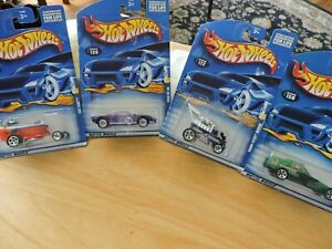 HOT WHEELS CARS, SET OF FOUR--# 139, 140, 150, 172