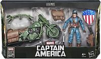 Hasbro Marvel Série Legends Captain America 15cm Figurine avec Moto