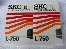 2 X Nuovo di Zecca SIGILLATI SKC L-750 195 min BETAMAX VIDEO CASSETTE magnetiche.