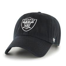 Oakland Raiders 47 Brand NFL Strapback Adjustable Black Dad Cap Hat Clean Up