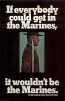 "Vintage U.S. MARINES Recruiting Poster ""A Few Good Men"" size 11"" by 17"""