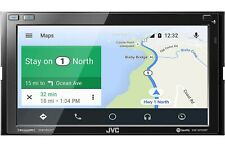 JVC KW-M750BT Compatible with Apple CarPlay, Android Auto 2-DIN AV Receiver