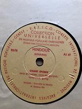 UNESCO GENEVA ARCHIVES HINDOUS BENARES INDIA ETHNOGRAPHIC 78 RPM CONSTAN BRAILOU