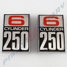 6 CYLINDER 250 Guard Badges (x2) New for Ford CORTINA TC TD Fender MK1 GT GS XLE