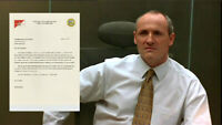 House of Cards Brockhart Colm Feore Production Used Resignation Letter July (C)
